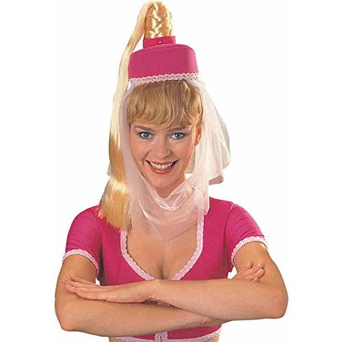 Rubie's I Dream of Jeannie Hat w/Hair, One Size, Pink