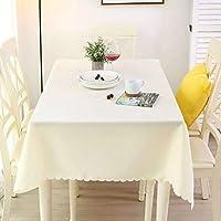 ポリエステルテーブルクロス/単色厚くする汚れつきにくいしわなしテーブルマット長方形スクエア丸型洗えるテーブルカバーのために適したホテルレストラン結婚式-ベージュA-120バツ180CM(47バツ71インチ)