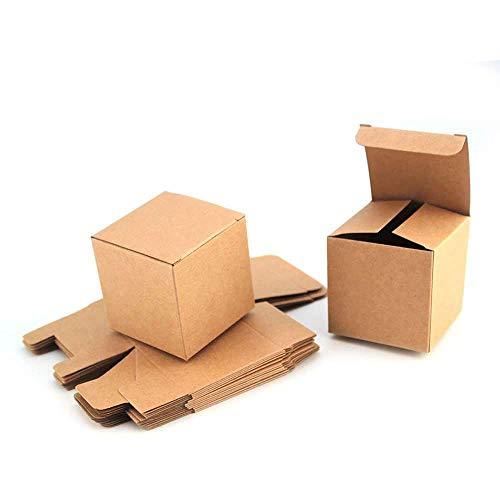 RUBY - 50 Scatole regalo in cartone, scatole regalo piccole quadrate con coperchio per feste e mestieri 6cmx6cmx6 cm