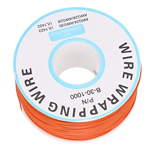 Cable de envoltura, placa de circuito, cable volador de cobre, línea de un solo núcleo, cable de conexión electrónico para soldar portátiles, placas base, pantallas LCD(naranja)