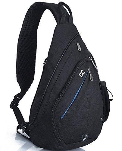 Cross-Body-Rucksack von IX | Schulterrucksack - Sling/Brusttasche - Sporttasche - Sporttasche - Reisetasche - Campingrucksack (Schwarz)