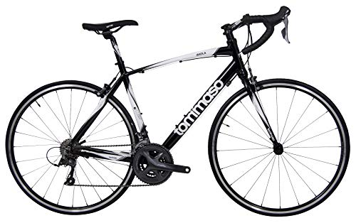 Tommaso Imola Endurance Aluminum Road Bike, Shimano Claris R2000, 24 Speeds, Black, White, Burnt...