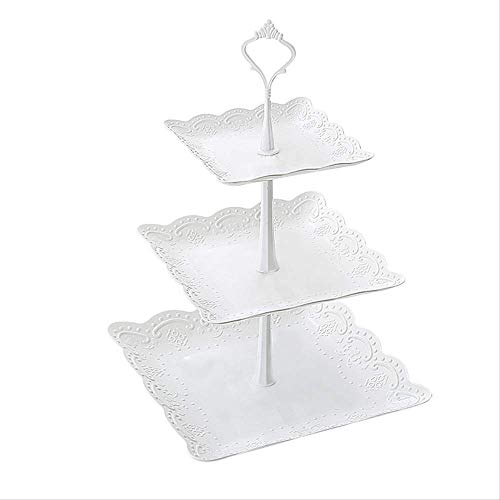 Drie-Layer Fruit Plate Droog Fruit Plate Middag Thee Dim Som Lade Dessert Tafel Multi-Layer Cake Rack Cake Table