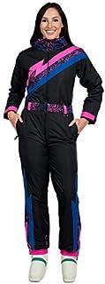 Tipsy Elves Women's Brand New Black Nightrun Retro Ski Suit - Old School Snowsuit for Female