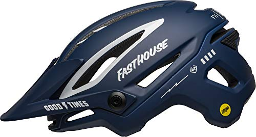 Bell Sixer MIPS Adult Mountain Bike Helmet - Fasthouse Matte/Gloss Blue/White (2021), Large (58-62 cm)