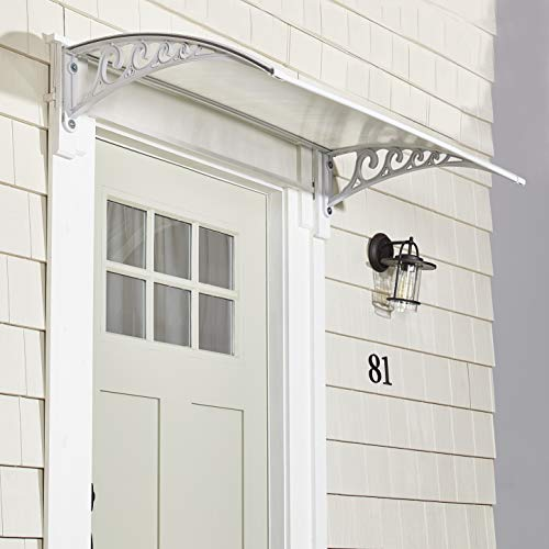 The Lakeside Collection Window Awning Or Front Door Canopy - Snow and Rain Blocker - White