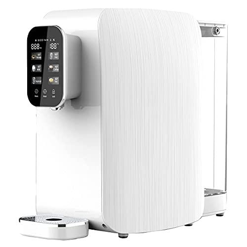 OsmoFresh Auftisch Osmoseanlage Quella Life mit 6 Temperaturstufen (~15-100°C) mobil kein Wasseranschluss nötig 5 stufige Filterung kalkfreies Trinkwasser Überwachung Filterlebensdauer Wasserspender