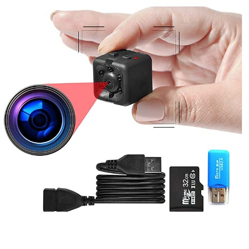 1080P Tiny Security Camera, Full HD Secret Camera with Motion Detection, Portable Smart Camera with Night Vision, Spy Camera
