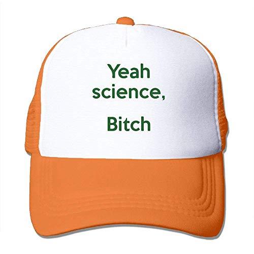 LLeaf Berretto da Baseball Classico, Yeah Science, Berretto Piatto Regolabile Regolabile Bitch Fashion Arancione