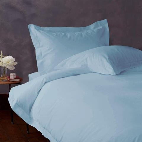 4 Piece Bed Sheet Set 100% Egyptian Cotton Solid Pattern 400 TC 6-10 Inch Deep Pocket Size (Full Color Sky Blue)
