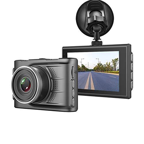 """Dash Cam 1080P FHD In Auto Kamera Dashboard Kamera Video Driving Recorder Dashcam für Autos 170° Weitwinkel WDR mit 3,0\"""" LCD Display Nachtsicht G-Sensor und Parkmonitor"""