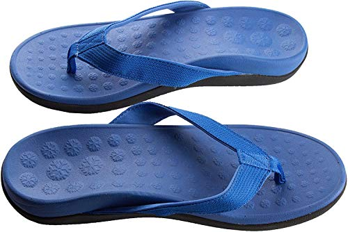 Bodytec Wellbeing Orthotic Sandals with Great Arch Support and Plantar Fasciitis Relief 5 UK Blue
