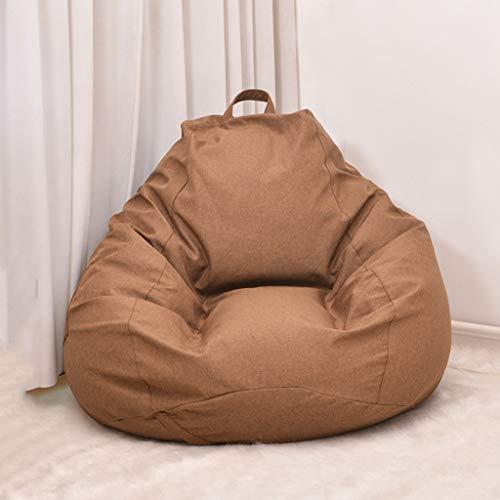 JJZXD Sitzsackbezug Lazy Sofabezug Solid Chair Innerer Sitzsack Pouf Puff Couch Tatami Wohnzimmermöbelbezug (Color : C, Size : X-Large)