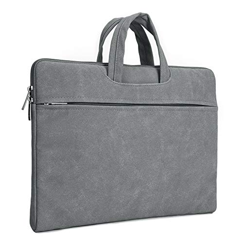 IMAVO Laptop Sleeve for 14-15.6 Inch Laptop Case with Portable Handle Waterproof Computer Bag Compatible with 15'/16' MacBook Pro, 15' Surface Book 2/3-Darkgrey