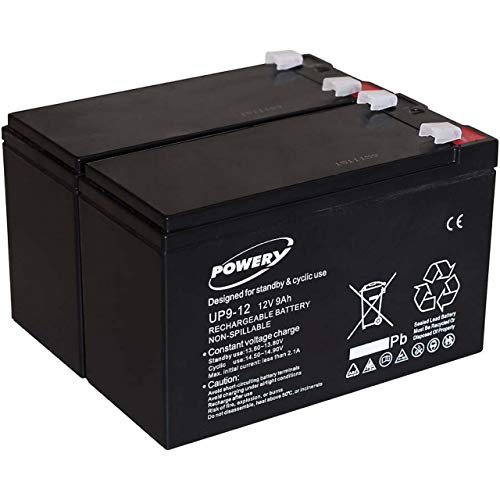 Powery Batería de GEL para SAI APC Back-UPS RS 1500 9Ah 12V