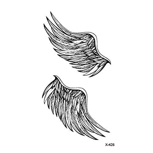 Temporäre Tattoo-Aufkleber Mode Flügel Tattoo Aufkleber Wasserdicht Temporäre Gefälschte Tätowierung Für Kunst Für Mann Frau 8Pc