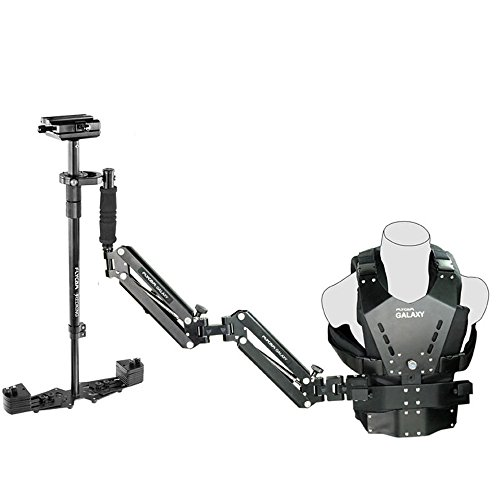 FLYCAM Galaxy Dual-Arm and Vest with Redking Video Camera Stabilizer, 15.4 Lbs Capacity