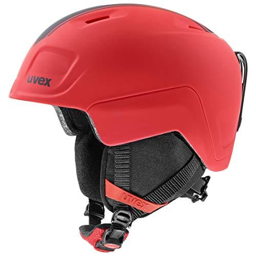 uvex heyya PRO, Casco da Sci Unisex Bambino, Race Red Mat, 54-58 cm