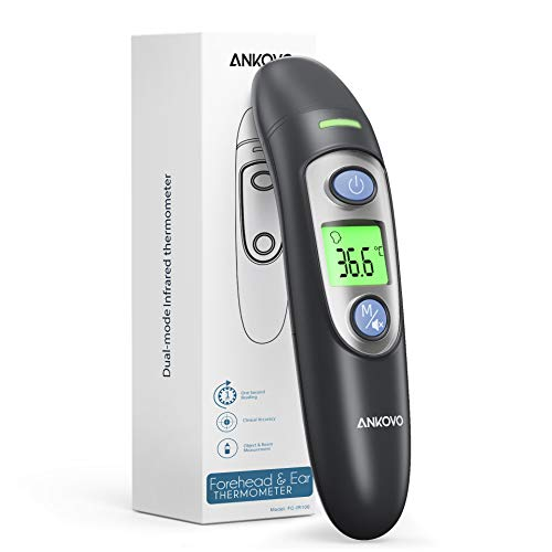Thermometer for Adults, Non Contact Forehead and Ear Thermometer, Infrared...