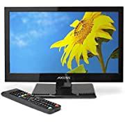 AXESS TVD1801-13 13.3-Inch LED HDTV, Features 12V Car Cord Technology, VGA/HDMI/SD/USB Inputs, Built-in DVD Player, Full Function Remote