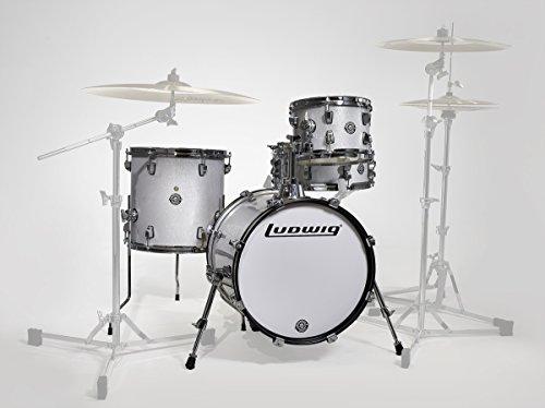 Ludwig LC179X028 Breakbeats 4 piezas Shell Pack con elevador, color blanco brillante