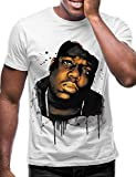 Swag Point Hip Hop T-Shirt - Funny Vintage Street wear Hipster Parody (L, Biggie Watercolor)