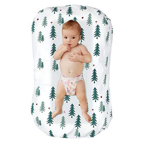 Puseky - Tumbona de bebé recién nacido portátil suave cuna colchón bebé cama co-Sleeping cuna nido bebé para 0-6 meses bebé Cedro Verde