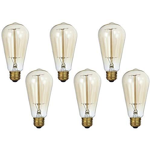 Tesler Clear 60 Watt Standard Edison Style Light Bulb 6-Pack - Tesler
