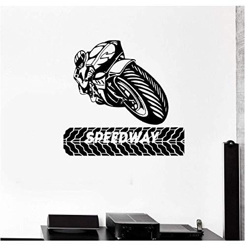 Motorradrennen Wandaufkleber, Extremsport Aufkleber, Home Decoration Vinyl Aufkleber...