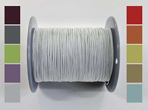 Home-Vision 10 Meter Plisseeschnur 0.8mm Weiß | Schnur Spannschnur für Plissees Rollos Jalousien | 15 Farben!!