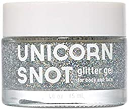 Unicorn Snot Holographic Body Glitter Gel - Vegan & Cruelty Free, Perfect for Festival, Rave, Costume, Silver, 1.6 Ounces
