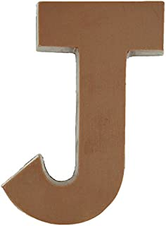 Philadelphia Candies Solid Milk Chocolate Alphabet Letter J, 1.75 Ounce Novelty Gift