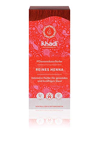 Khadi KH-PHF-11-DE Pure Henna Plant Hair Colour 100 g I Hair Colour Orange Red Copper Red I Natural Hair Colour 100%