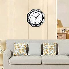 TIANYOU Wall Clock Silent No Ticking Bracket Clock Modern Geometry Polygon Wall Clock Acrylic Black and White Mirror Wall Clocks Simplicity is The Clock / 28 * 28cm #2