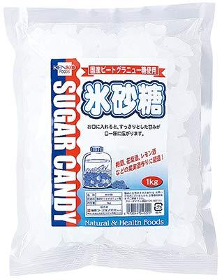 健康フーズの氷砂糖 1kg×3個          JAN: 4973044040225