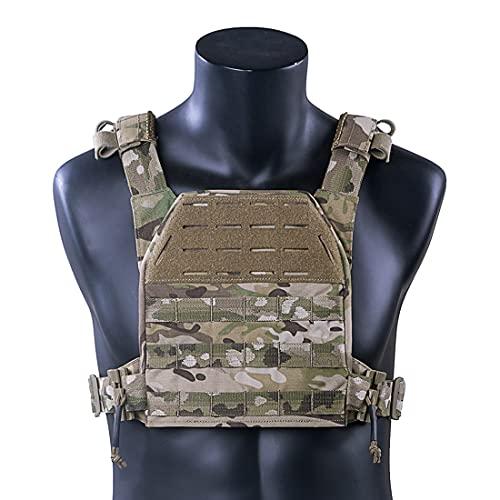 Tewerfitisme Chaleco táctico ultraligero con sistema Molle Molle militar, protección táctica militar