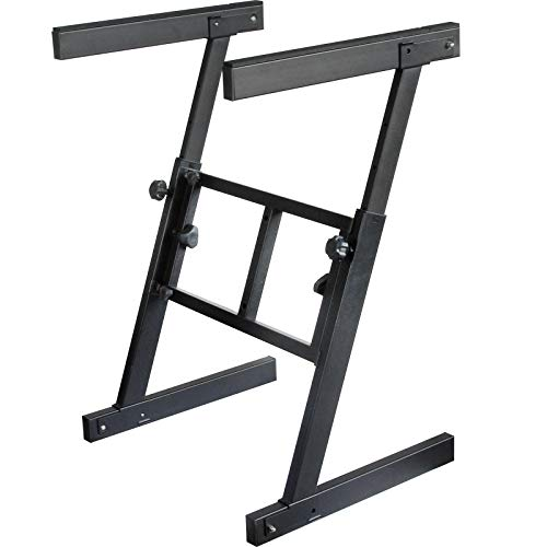 GLEAM Keyboard Stand - Z Style Adjustable Heavy Duty Piano Stand (Fits 54-88 Key Electric Pianos)
