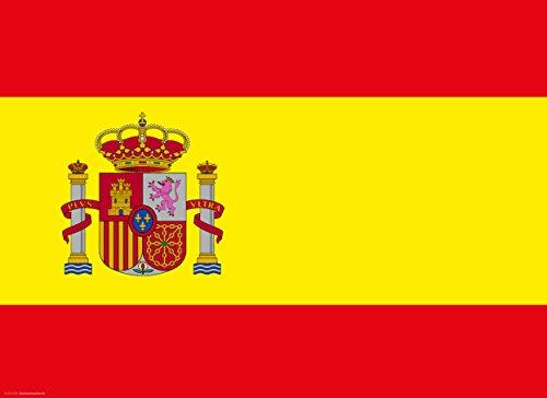 Tischsets | Platzsets - Spanien Flagge - 10 Stück - hochwertige Tischdekoration 44 x 32 cm für spanische Feiern, Mottopartys und Fanabende