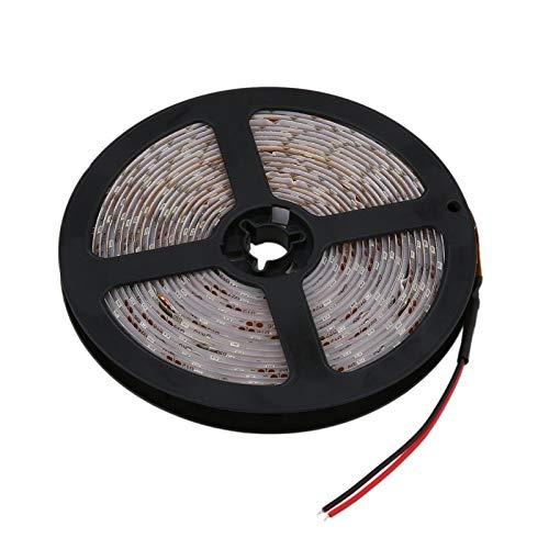 5 M / 3528/300 LED Impermeable de una Sola lámpara de Tira de LED 12 V Blanco frío cálido SMD Tiras de Cinta para el Techo del mostrador del Armario cinturón de luz(White,C)