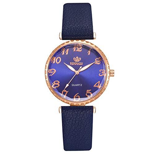 Powzz - Reloj de pulsera para mujer con diseño de ornamento de aleación, 5 piezas