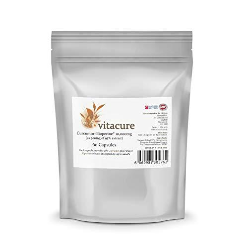 Turmeric 10,000MG plus Bioperine®, 95% Curcuminoids - 60 Capsules