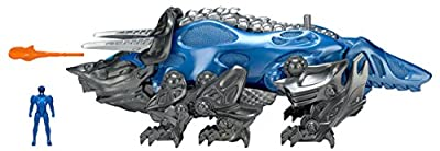 Power Rangers Movie Triceratops Battle Zord with Blue Ranger Figure - Megazord Action Toys - Functioning Catapult - Blue Ranger Fits Inside - Collect Them All and Build the Megazord by Bandai America Incorporated