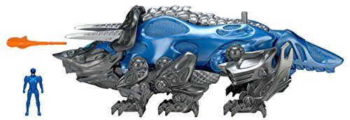 Power Rangers Movie Triceratops Battle Zord with Blue Ranger Figure - Megazord Action Toys - Functioning Catapult - Blue Ranger Fits Inside - Collect Them All and Build the Megazord