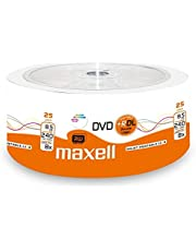 Maxell 276078 DVD+R 8,5 GB DL Double Layer, 8x speed, 8,5 GB, 25er krimp, bedrukbaar