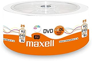 Maxell 276078DVD + R 8.5GB DL Double Layer, 8&
