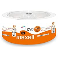 Maxell 276078DVD + R 8.5GB DL Double Layer, 8x Speed, 8,5GB, 25Shrink, imprimibles
