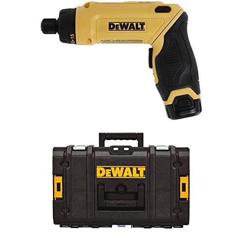 DEWALT DCF680N2 8V Max Gyroscopic Screwdriver 2 Battery Kit with DEWALT DWST08201 Tough System Case, Small
