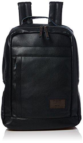 Bugatti Unisex-Erwachsene Freizeit-Rucksack, schwarz, 43 cm