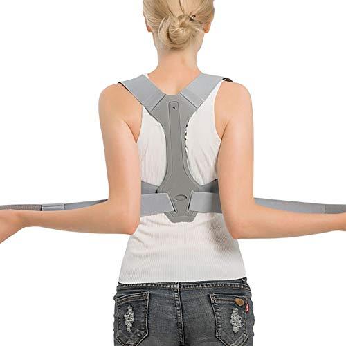 XKRSBS Apoyo para la Espalda Terapia Ajustable Postura Ortesis Soporte para el Hombro Clavícula Soporte Cinturón Soporte Lumbar Postura Cinturón