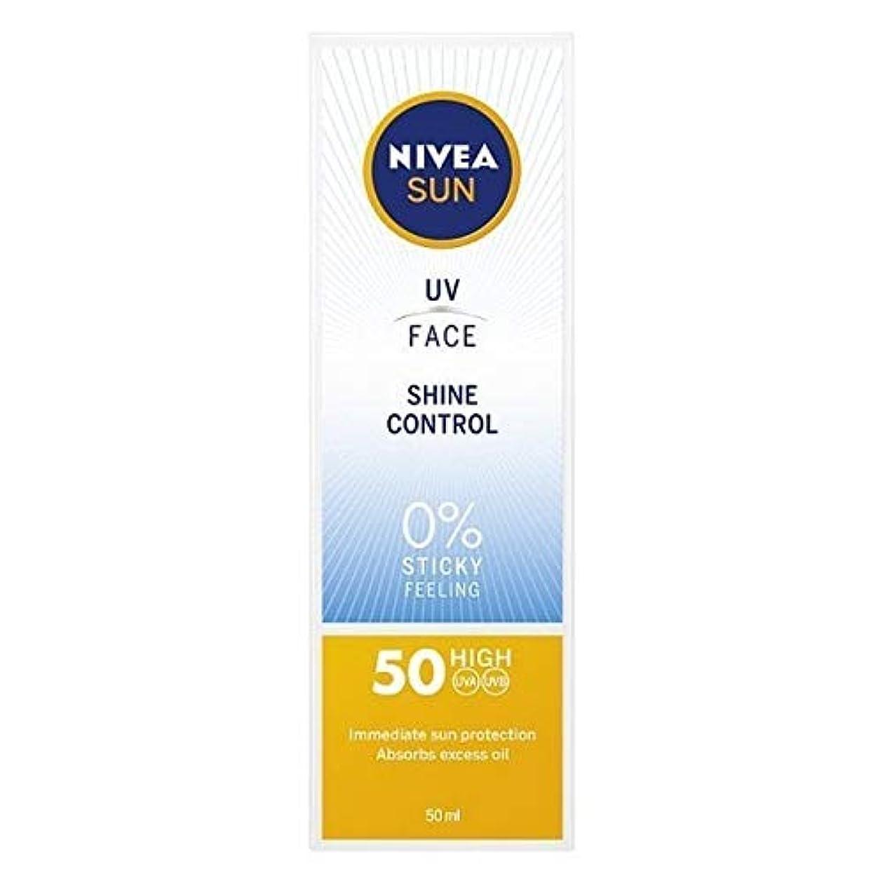 アンティークピボット取り戻す[Nivea ] ニベアサンUv顔日焼け止めクリームのSpf 50、輝き制御、50ミリリットル - NIVEA SUN UV Face Suncream SPF 50, Shine Control, 50ml [並行輸入品]